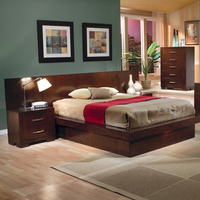 Coaster Furniture 200711KW - Jessica California King Size Platform Bed (Light Cappuccino)