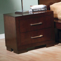 Coaster Furniture 200712 - Jessica Night Stand (Light Cappuccino)