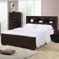 Coaster Furniture 200719KE - Jessica Eastern King Size Bookcase Headboard Bed (Light Cappuccino)
