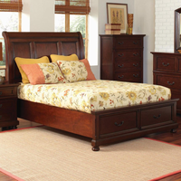 Coaster Furniture 200831KE - Hannah Eastern King Size Bed (Brown Cherry)