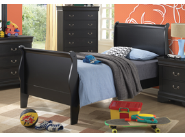 Coaster Furniture 201071T - Louis Philippe Twin Bed (Black)