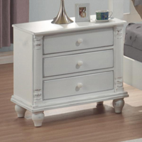 Coaster Furniture 201182 - Kayla Night Stand (Distressed White)
