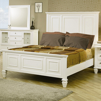 Coaster Furniture 201301KE - Sandy Beach Eastern King Size Bed (White)