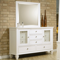 Coaster Furniture 201303 - Sandy Beach Dresser (White)