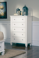 Coaster Furniture 201305 - Sandy Beach 5 Drawer Chest (White)