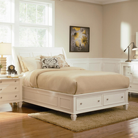Coaster Furniture 201309KE - Sandy Beach Eastern King Size Bed (White)