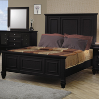 Coaster Furniture 201321KE - Sandy Beach Eastern King Size Bed (Black)