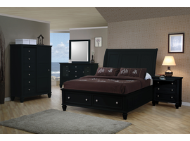 Coaster Furniture 201325 - Sandy Beach 5 Drawer Chest (Black)