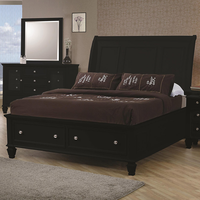 Coaster Furniture 201329KE - Sandy Beach Eastern King Size Bed (Black)