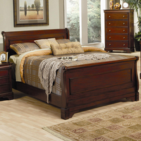 Coaster Furniture 201481KW - Versailles California King Size Bed (Deep Mahogany)