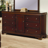 Coaster Furniture 201483 - Versailles Dresser (Deep Mahogany)