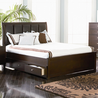 Coaster Furniture 201511KE - Lorretta Eastern King Size Bed (Deep Brown)