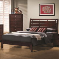 Coaster Furniture 201971KE - Serenity Eastern King Size Bed (Rich Merlot)