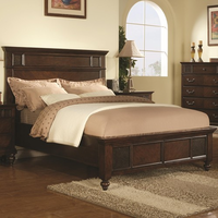 Coaster Furniture 202061KE - Sidney Eastern King Size Bed (Dark Cherry)
