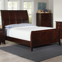 Coaster Furniture 202791KW - Findley California King Size Bed (Dark Cherry)