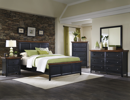 Coaster Furniture - 203151Q - QUEEN BED (RUSTIC BROWN/RUBBED BLACK)