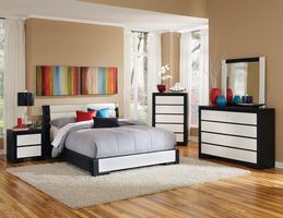 Coaster Furniture - 203331Q - QUEEN BED (BLACK/WHITE)