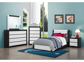 Coaster Furniture - 203331T - TWIN SIZE BED (BLACK/WHITE)