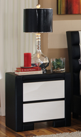 Coaster Furniture - 203332 - NIGHT STAND (BLACK/WHITE)
