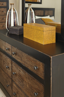 Coaster Furniture - 203773 - DRESSER (ANTIQUE OAK EMBOSSED/SAND BLACK)