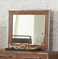 Coaster Furniture - 203804 - MIRROR (WEATHERED ACACIA)