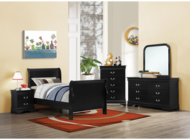 Coaster Furniture - 203961T - TWIN SIZE BED (BLACK)