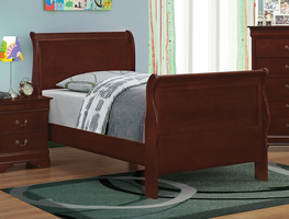 Coaster Furniture - 203971T - TWIN SIZE BED (RED BROWN)