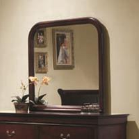 Coaster Furniture 203974 - Louis Philippe Mirror (Cherry)