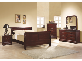 Coaster Furniture 203975 - Louis Philippe Chest (Cherry)