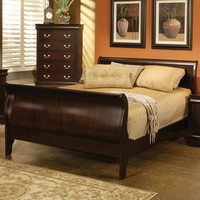 Coaster Furniture 203981NKW - Louis Philippe California King Size Bed (Cappuccino)