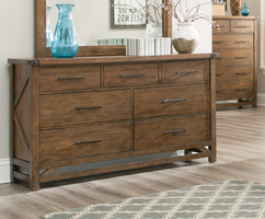 Coaster Furniture - 204173 - DRESSER (WEATHERED ACACIA)