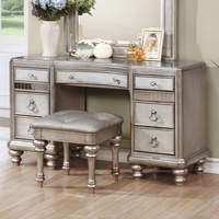 Coaster Furniture - 204187 - VANITY'S DESK (METALLIC PLATINUM)