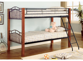 Coaster Furniture 2248 - Twin/Twin Bunk Bed (Warm Medium)