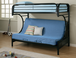 Coaster Furniture 2253K - Twin/Futon Bunk Bed (High Gloss Black)