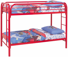 Coaster Furniture 2256R - Twin/Twin Bunk Bed (Red)