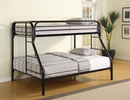 Coaster Furniture 2258K - Twin/Full Bunk Bed (Black)