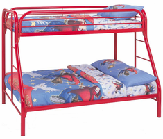 Coaster Furniture 2258R - Twin/Full Bunk Bed (Red)
