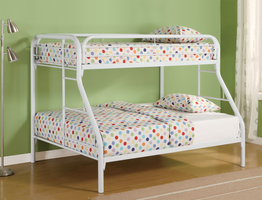 Coaster Furniture 2258W - Twin/Full Bunk Bed (White)