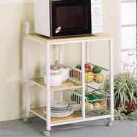 Coaster Furniture 2506 - Kitchen Cart (White/Natural)