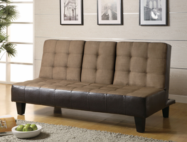 Coaster Furniture 300237 - Sofa Bed (Tan/Dark Brown)