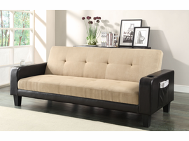 Coaster Furniture - 300295 - SOFA BED (KHAKI/DARK BROWN)