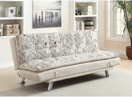 Coaster Furniture - 300421 - SOFA BED (OATMEAL FRENCH SCRIPT PATTERN)