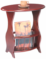 Coaster Furniture 3054 - Magazine Table (Cherry)