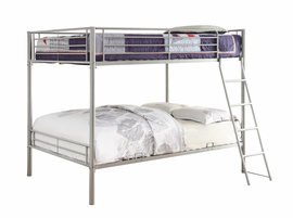 Coaster Furniture - 400037F - FULL/FULL BUNK BED (SILVER)