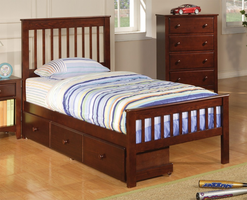 Coaster Furniture 400290T - Parker Twin Bed (Brown Cherry)