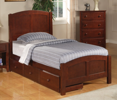 Coaster Furniture 400291T - Parker Twin Bed (Brown Cherry)