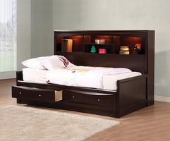 Coaster Furniture 400410F - Phoenix Youth Daybed Full Bed (Cappuccino)
