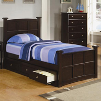 Coaster Furniture 400751T - Scottsdale Twin Sleigh Bed (Cappuccino)
