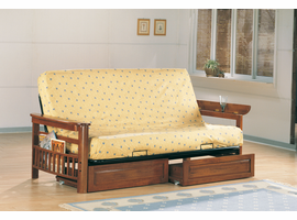 Coaster Furniture 4075 - Futon Frame (Weathered Oak)