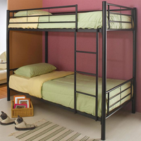 Coaster Furniture 460072B - Twin/Twin Bunk Bed (Black)